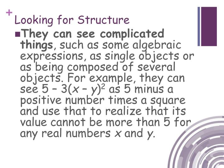 Looking for Structure