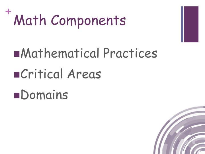 Math Components
