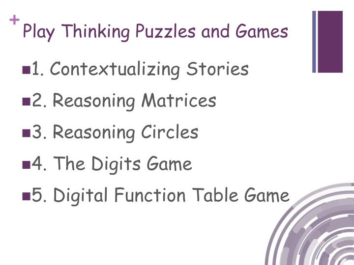 Play Thinking Puzzles and Games