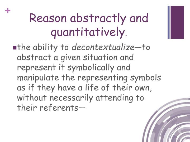 Reason abstractly and quantitatively