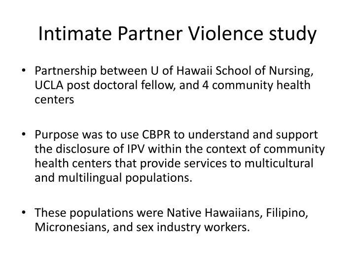 Intimate Partner Violence study