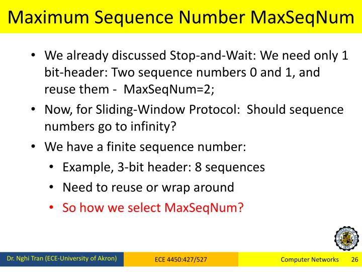 Maximum Sequence Number