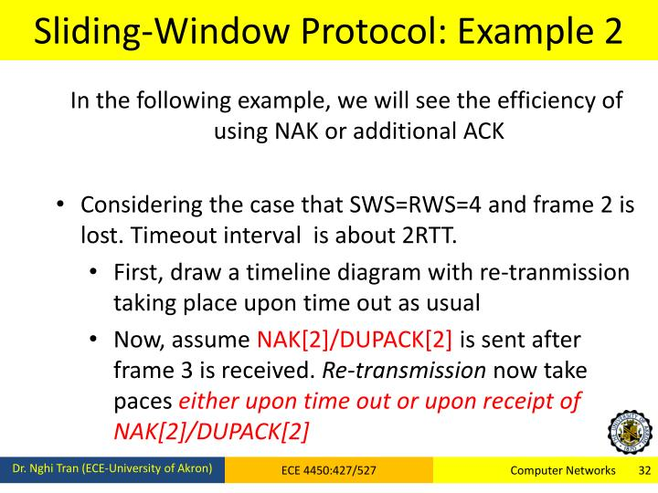 Sliding-Window Protocol: Example 2