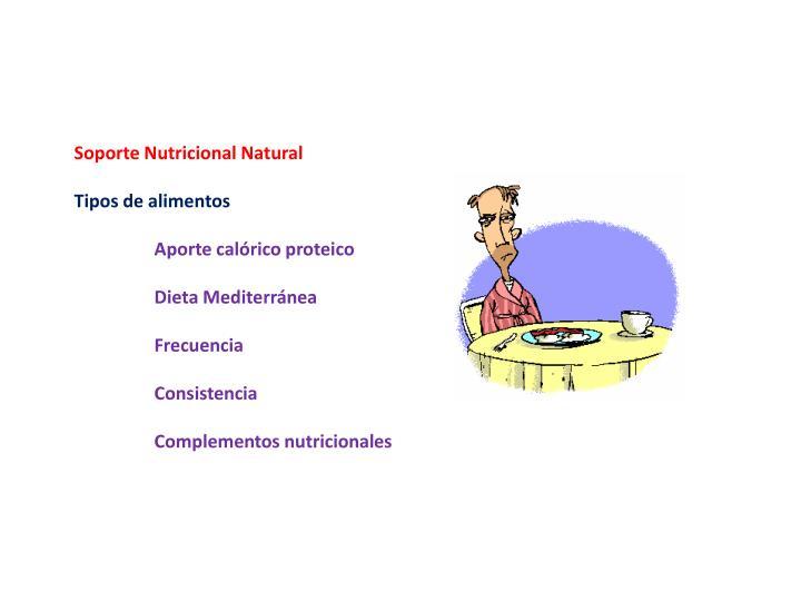 Soporte Nutricional Natural