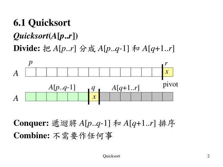 6.1 Quicksort