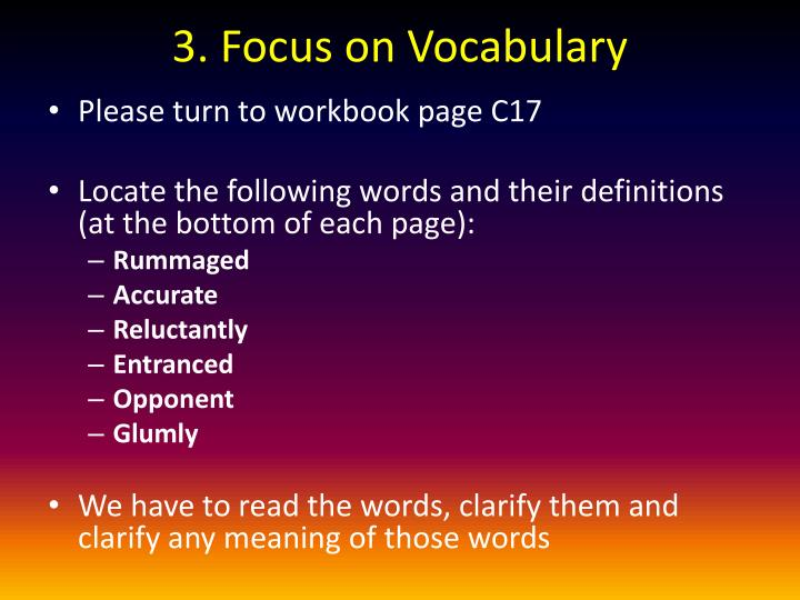 3. Focus on Vocabulary