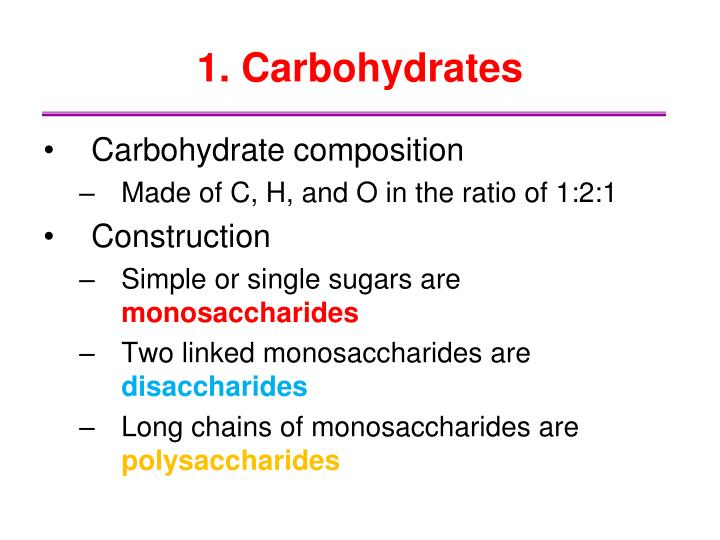 1. Carbohydrates