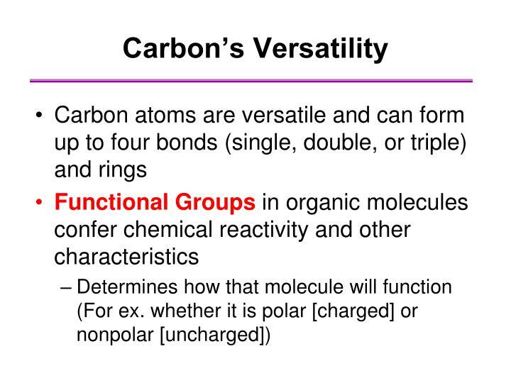 Carbon's Versatility