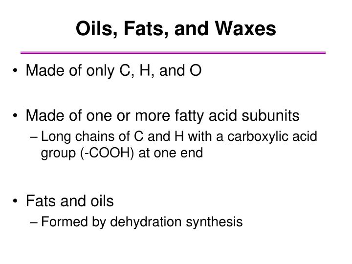 Oils, Fats, and Waxes