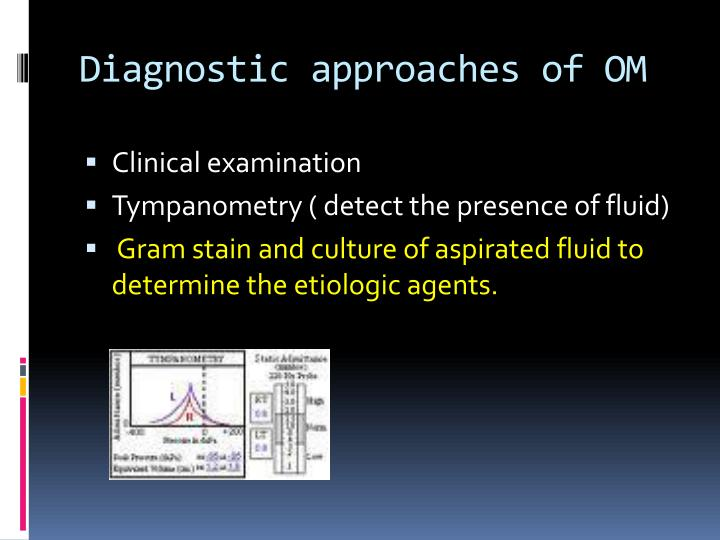 Diagnostic approaches of OM