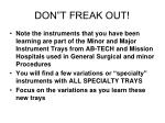 don t freak out