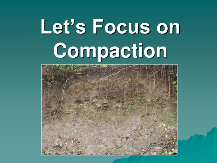 Let's Focus on Compaction