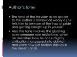 author s tone