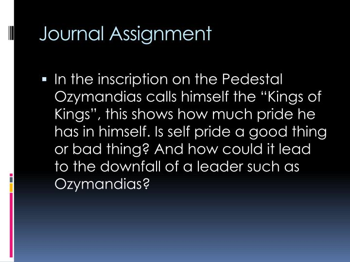 Journal Assignment