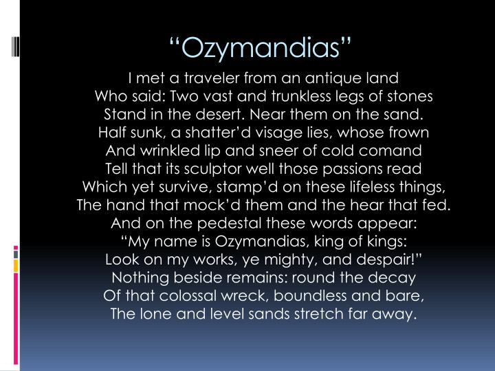 """""""Ozymandias"""""""