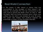 real world connection