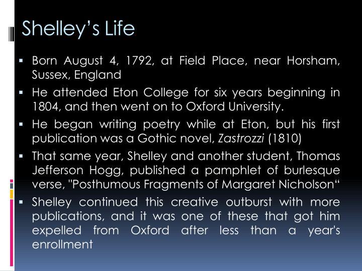 Shelley's Life