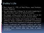shelley s life