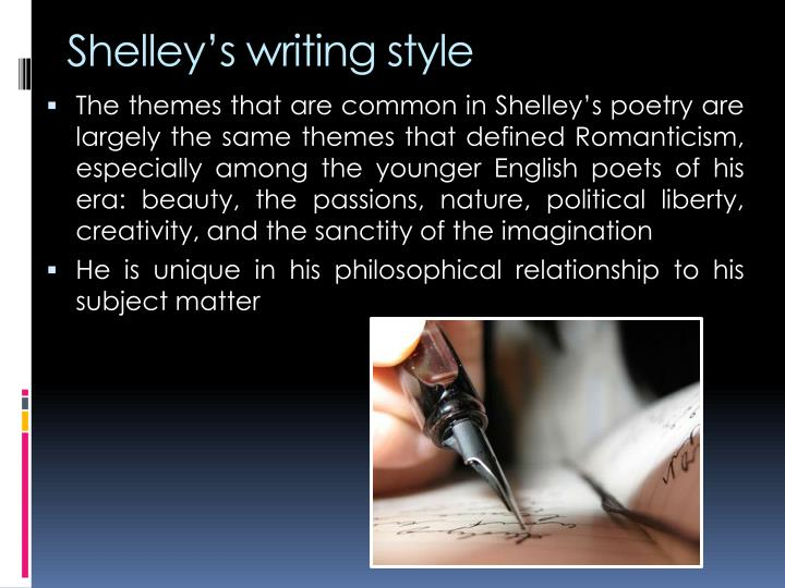 Shelley's writing style