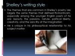 shelley s writing style