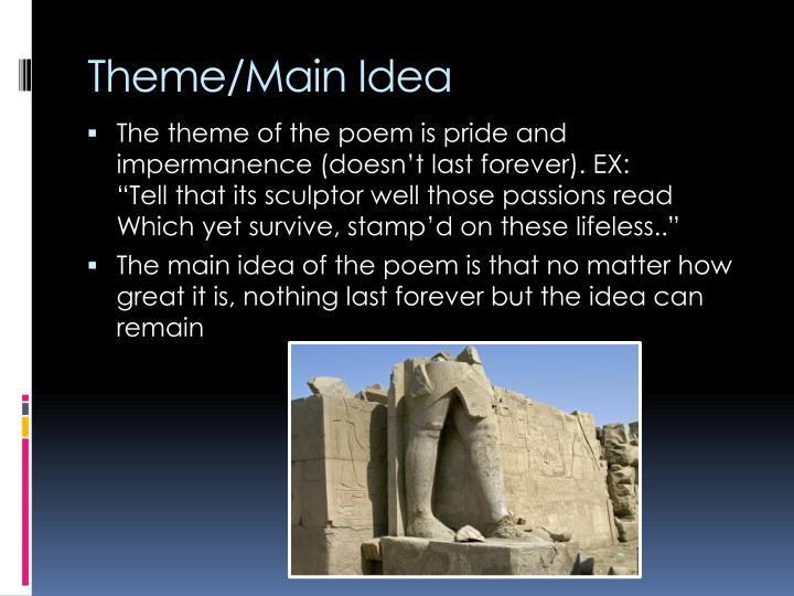 Theme/Main Idea