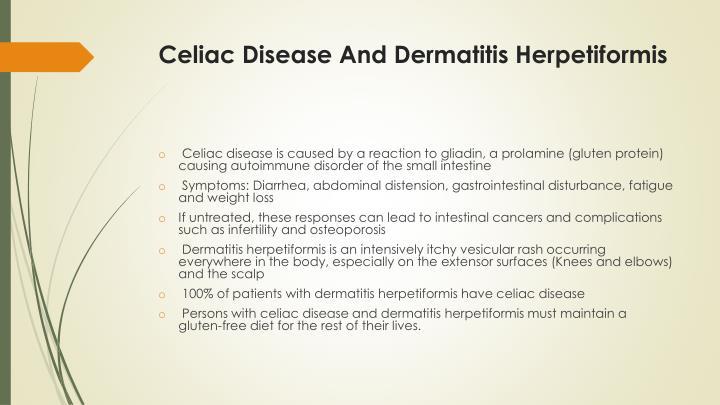Celiac Disease And Dermatitis Herpetiformis