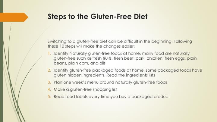 Steps to the Gluten-Free Diet