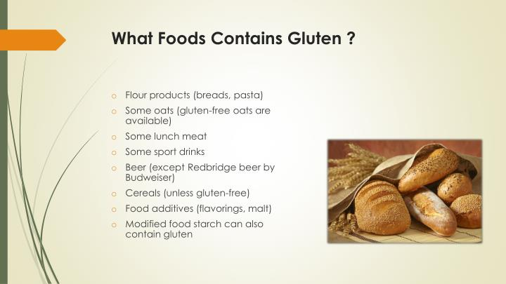 What Foods Contains Gluten ?