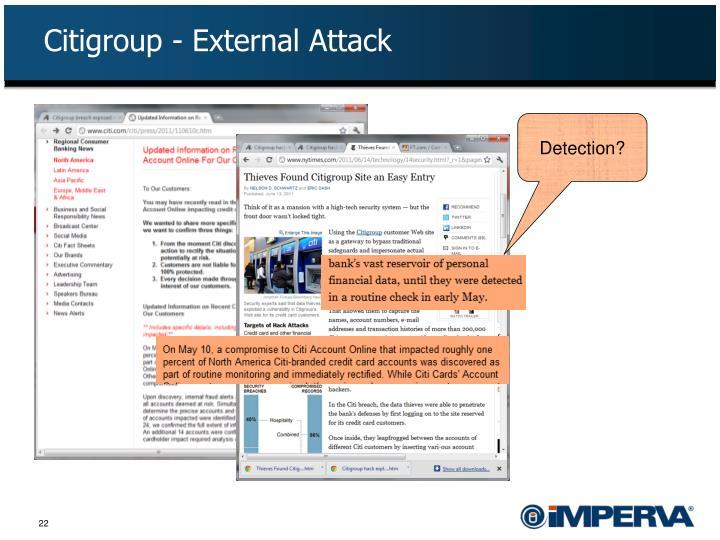 Citigroup - External Attack