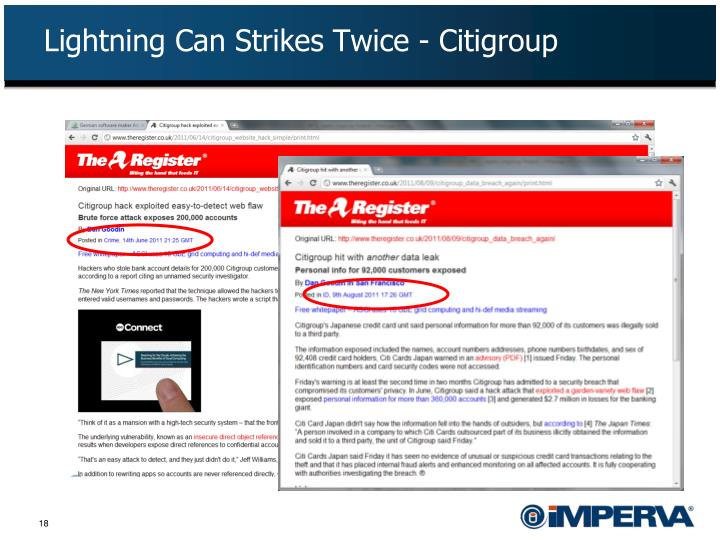 Lightning Can Strikes Twice - Citigroup