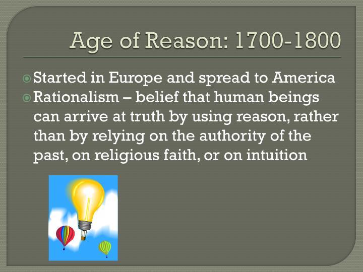 Age of Reason: 1700-1800