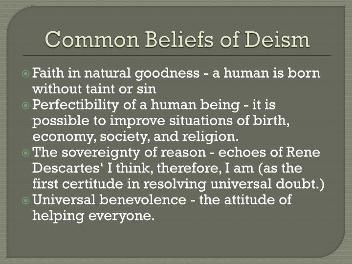 Common Beliefs of Deism