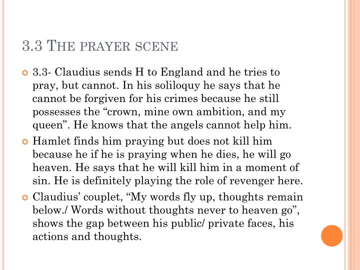3.3 The prayer scene