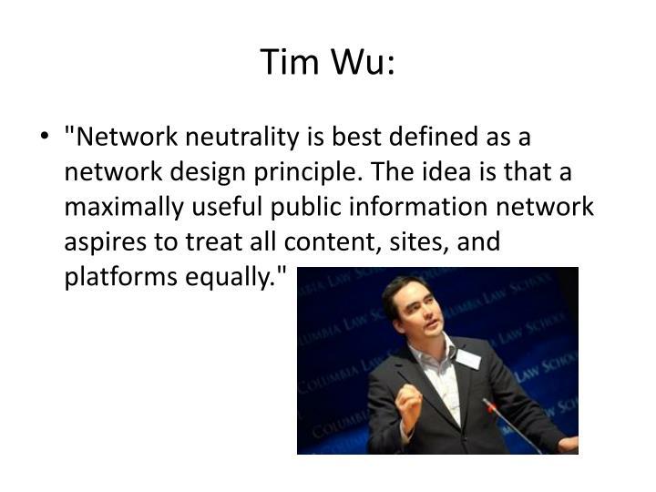 Tim Wu:
