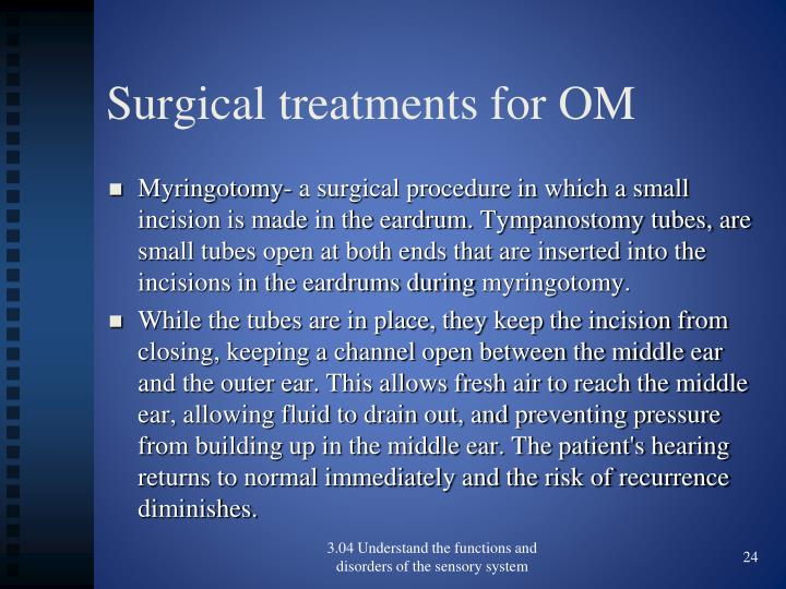 Surgical treatments for OM