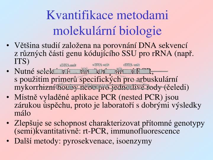 Kvantifikace metodami molekulární biologie