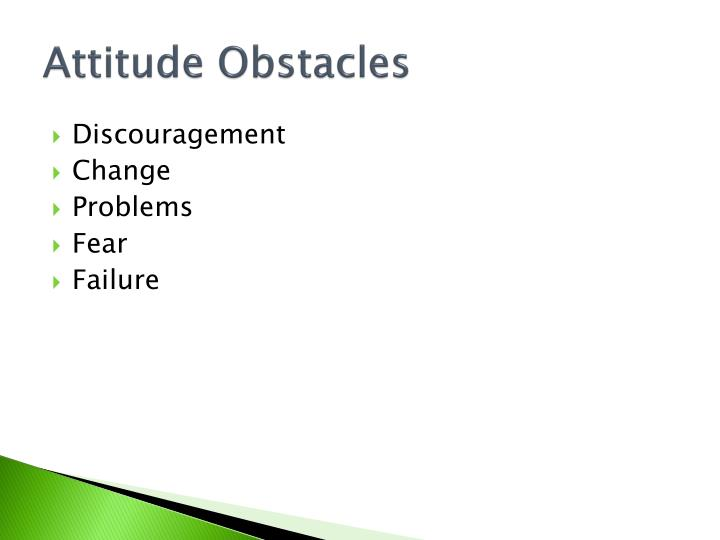 Attitude Obstacles