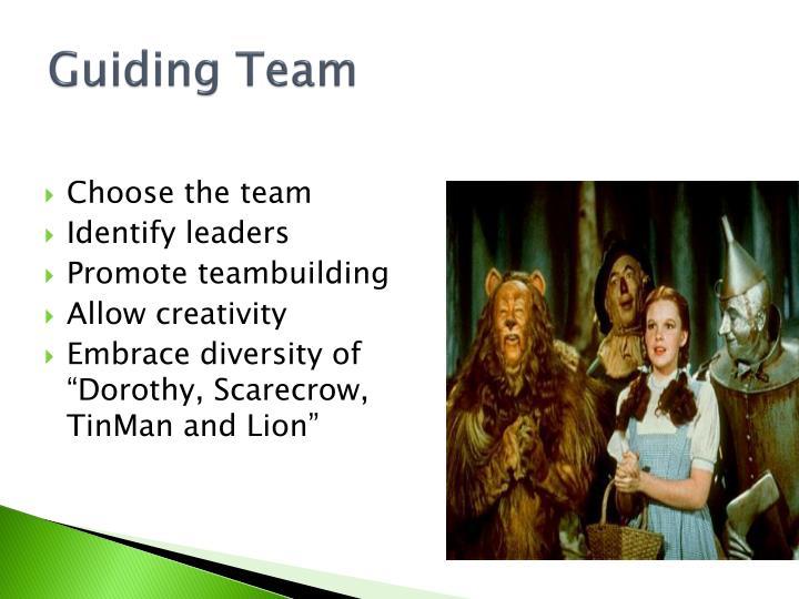 Guiding Team