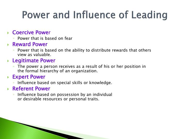 Power and Influence of Leading