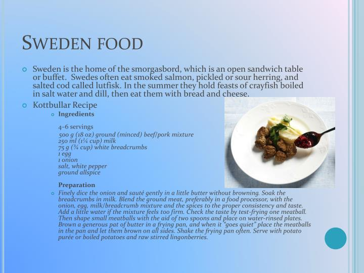 Sweden food