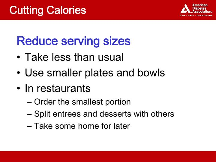 Cutting Calories