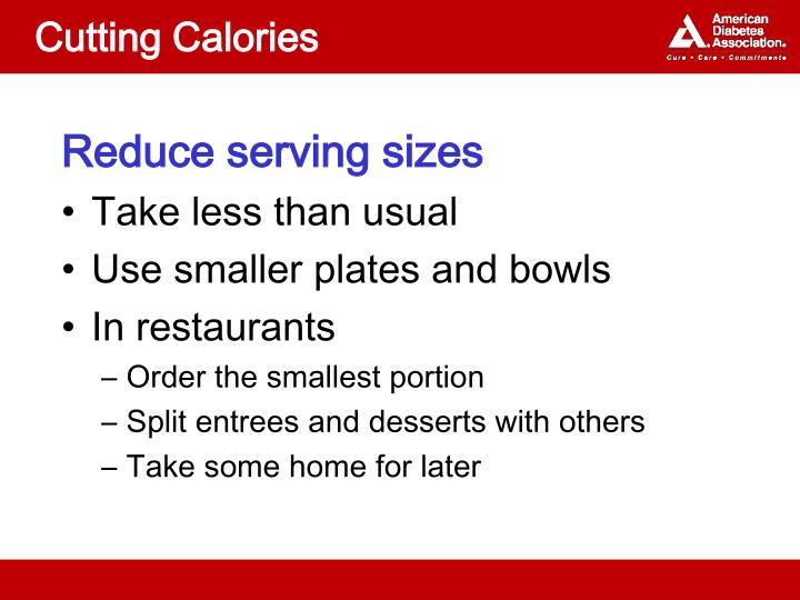 Cutting Calories
