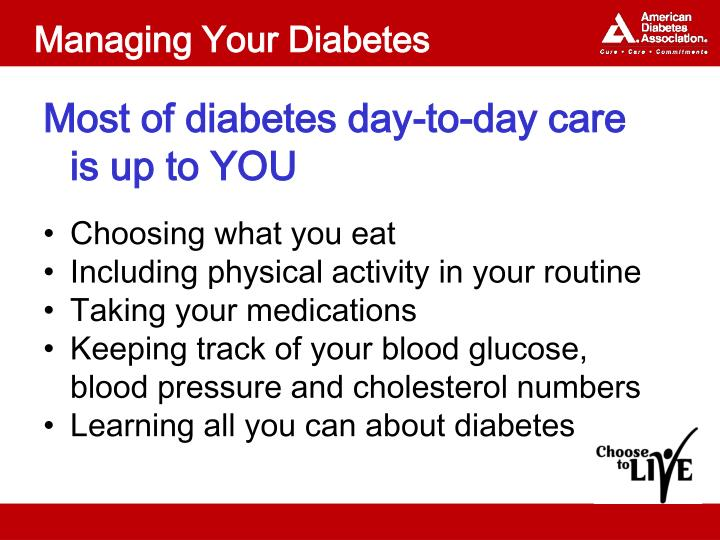 Managing Your Diabetes