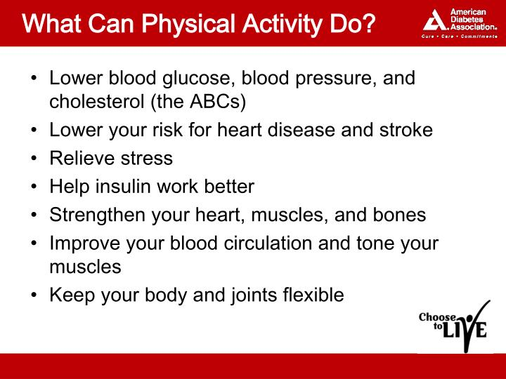 What Can Physical Activity Do?
