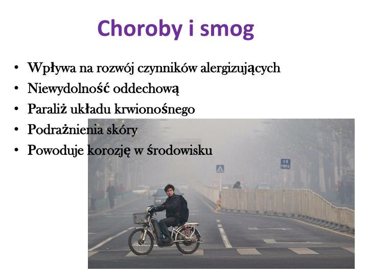 Choroby i smog