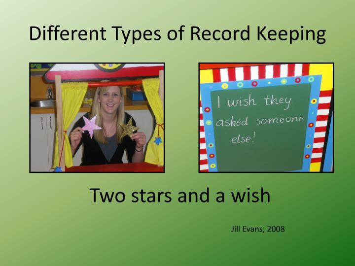 Different Types of Record Keeping