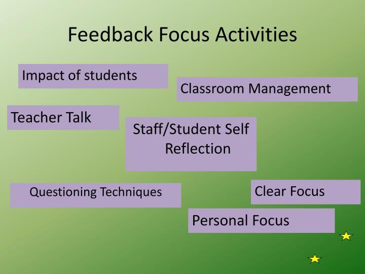 Feedback Focus Activities