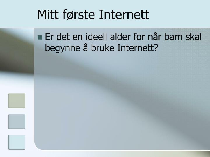 Mitt første Internett