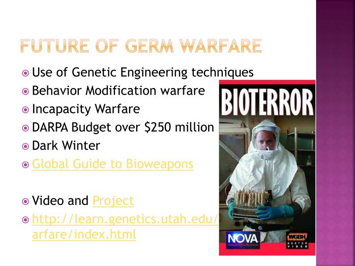 Future of Germ Warfare