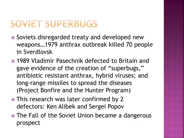 Soviet superbugs